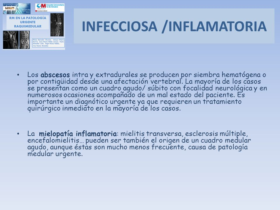 INFECCIOSA /INFLAMATORIA