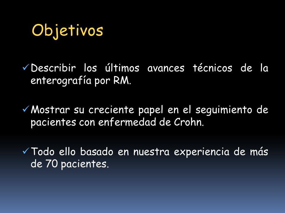 Objetivos Describir los últimos avances técnicos de la enterografía por RM.
