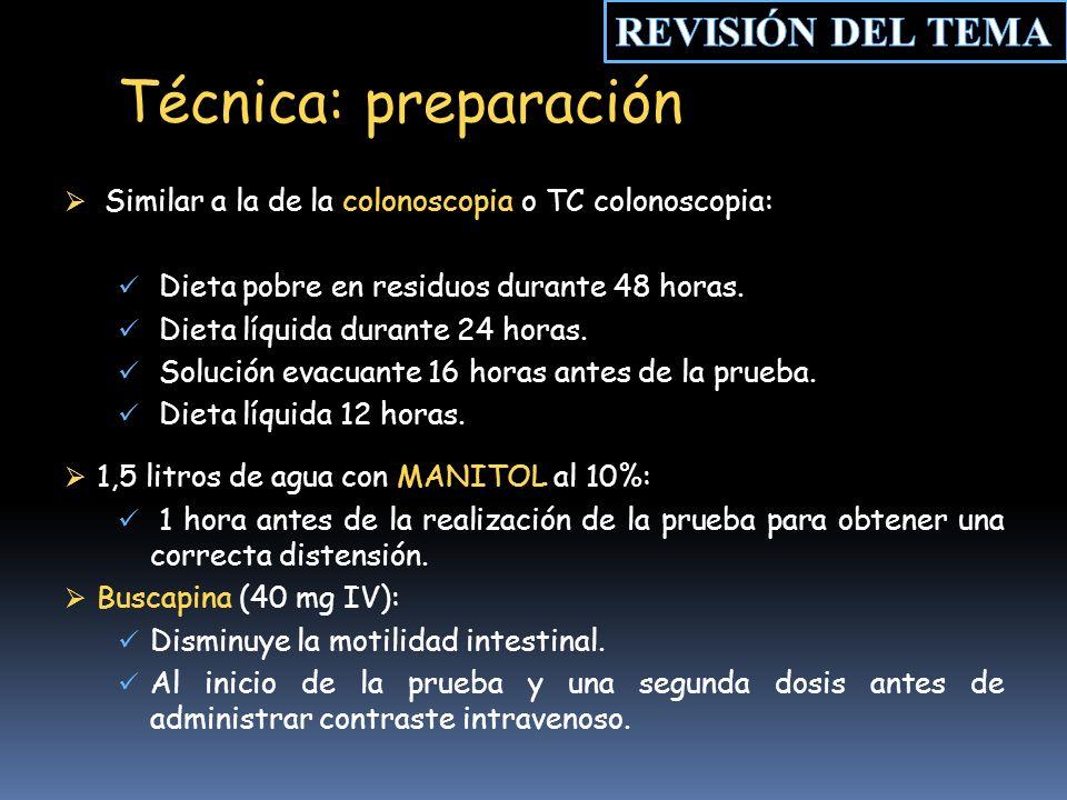 Técnica: preparación REVISIÓN DEL TEMA