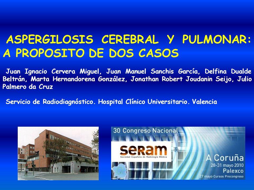 ASPERGILOSIS CEREBRAL Y PULMONAR: A PROPOSITO DE DOS CASOS