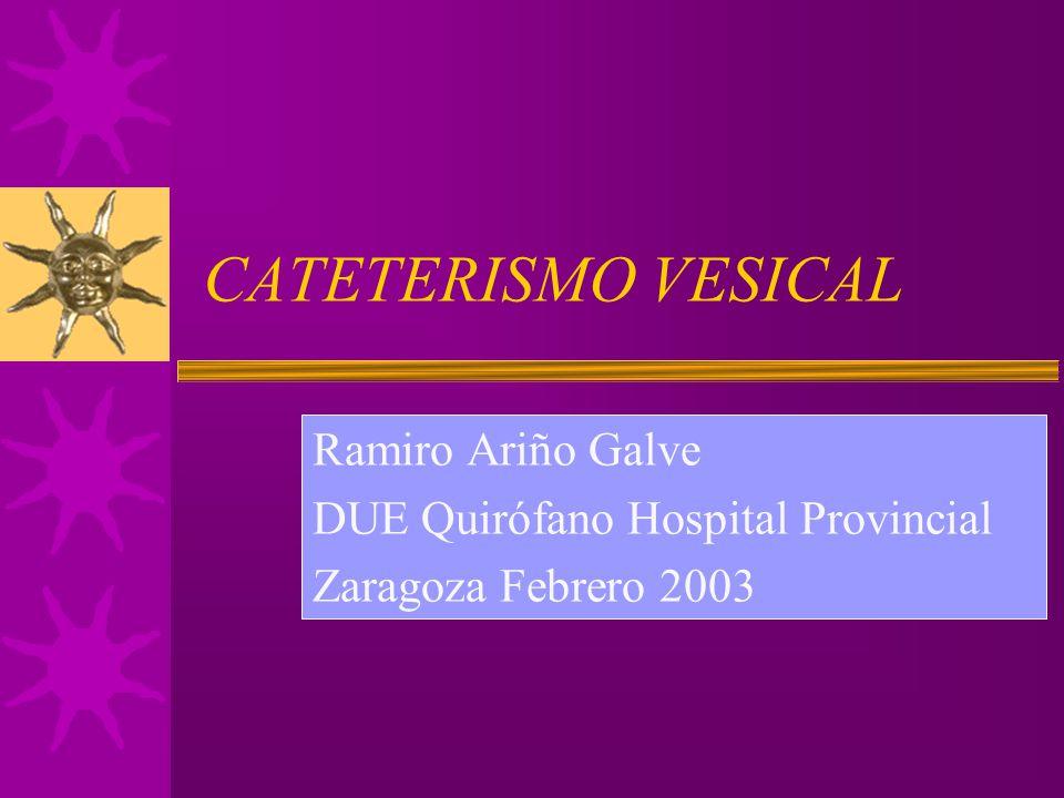 CATETERISMO VESICAL Ramiro Ariño Galve