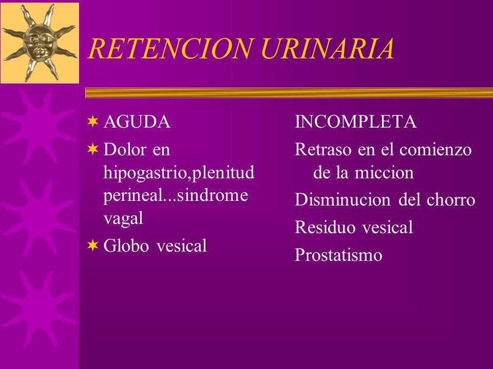 RETENCION URINARIA AGUDA