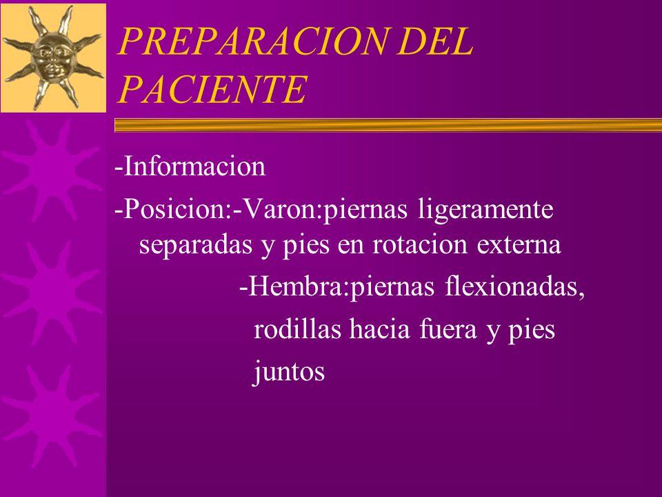 PREPARACION DEL PACIENTE