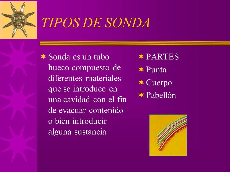 TIPOS DE SONDA