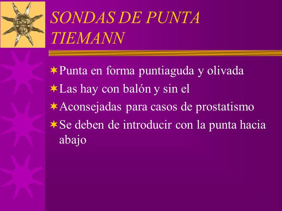 SONDAS DE PUNTA TIEMANN