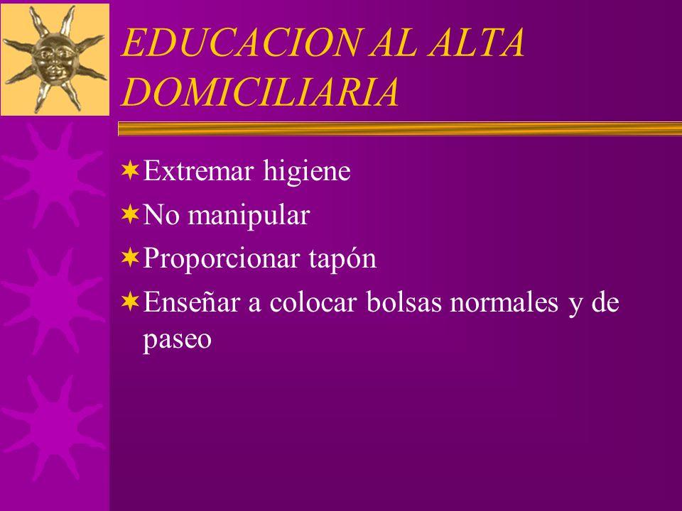 EDUCACION AL ALTA DOMICILIARIA