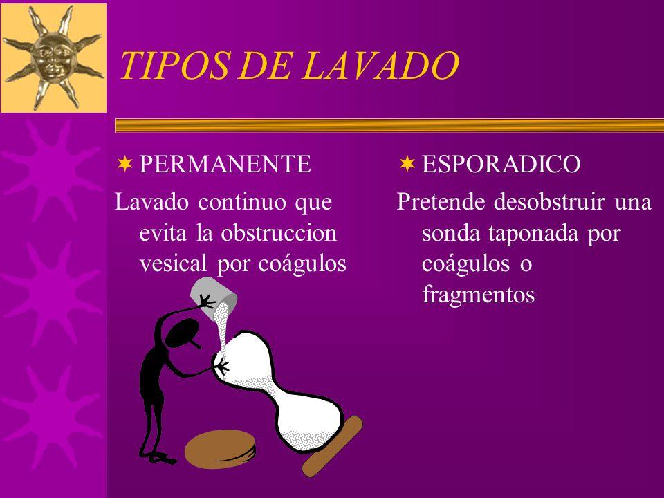 TIPOS DE LAVADO PERMANENTE