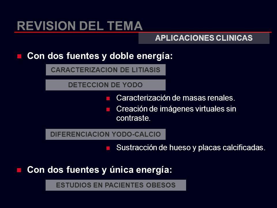 REVISION DEL TEMA Con dos fuentes y doble energía: