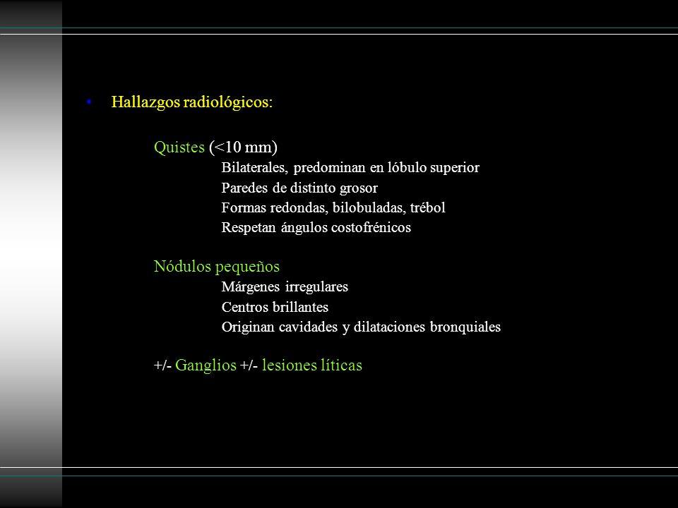 Hallazgos radiológicos: