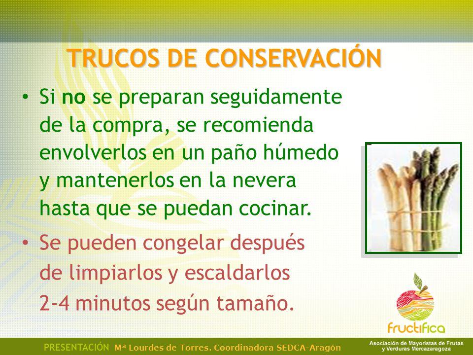 TRUCOS DE CONSERVACIÓN