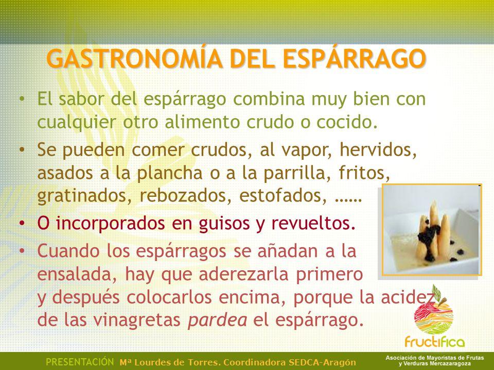 GASTRONOMÍA DEL ESPÁRRAGO