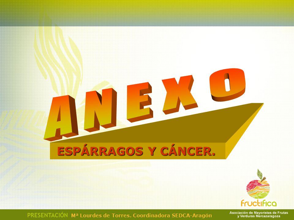 A N E X O ESPÁRRAGOS Y CÁNCER.