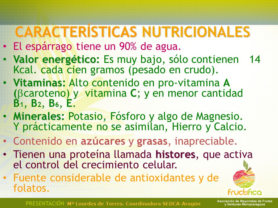 CARACTERÍSTICAS NUTRICIONALES