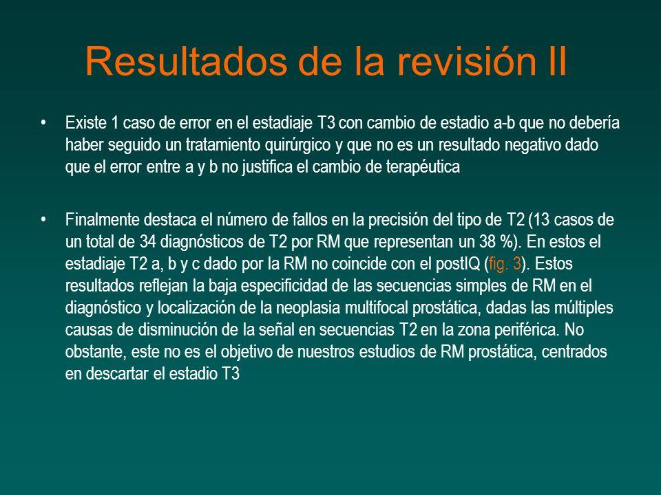 Resultados de la revisión II