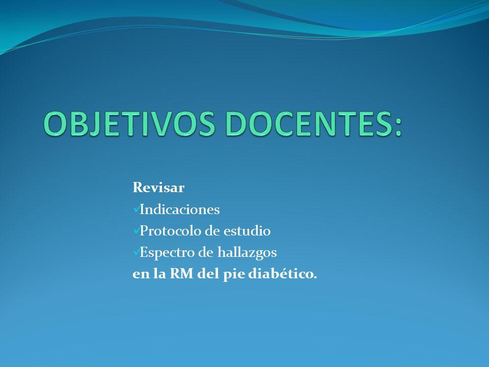 OBJETIVOS DOCENTES: Revisar Indicaciones Protocolo de estudio
