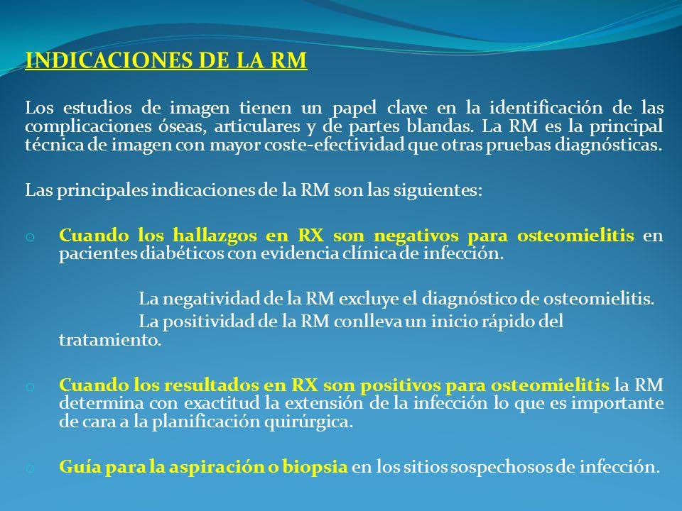 INDICACIONES DE LA RM