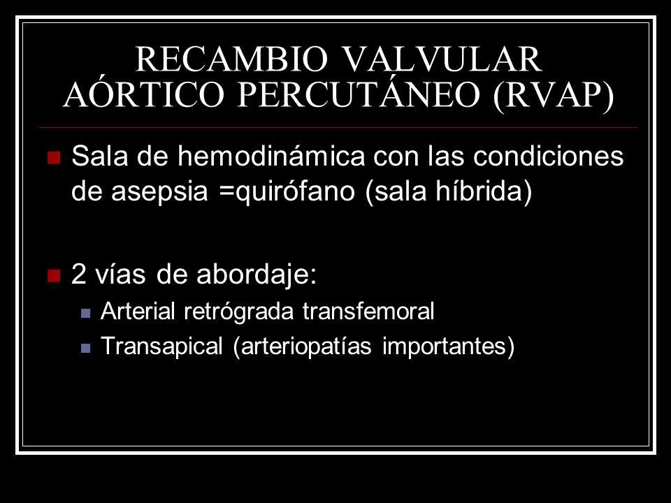 RECAMBIO VALVULAR AÓRTICO PERCUTÁNEO (RVAP)