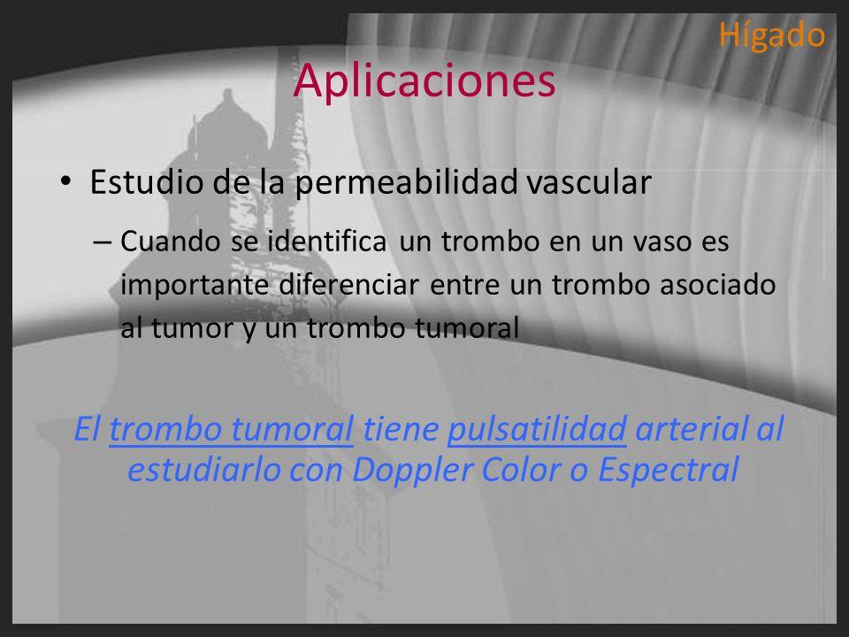 Aplicaciones Hígado Estudio de la permeabilidad vascular