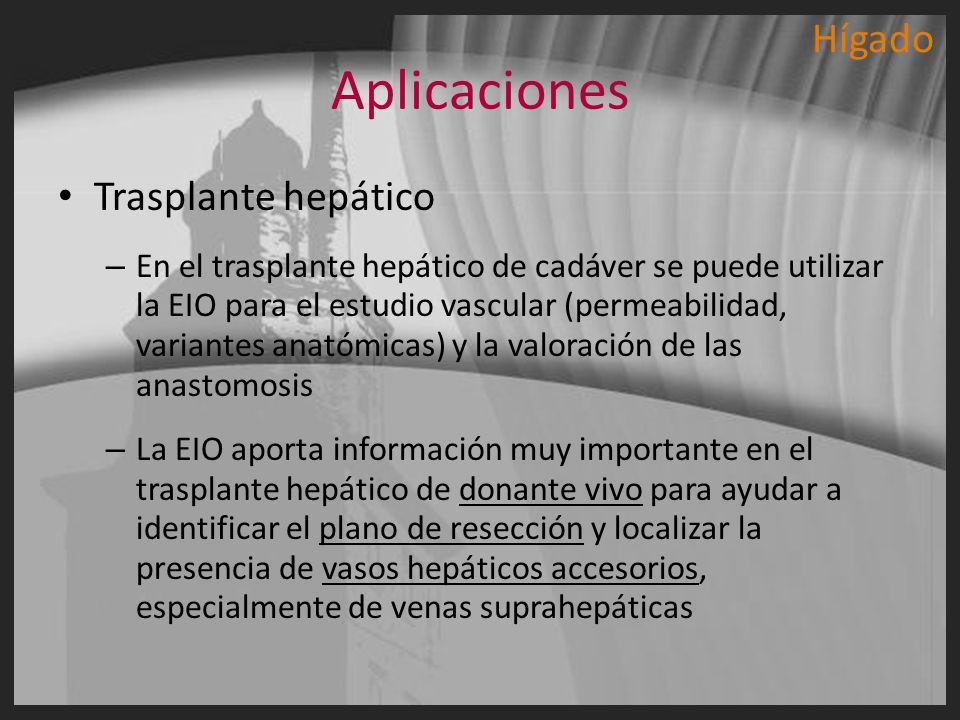 Aplicaciones Hígado Trasplante hepático