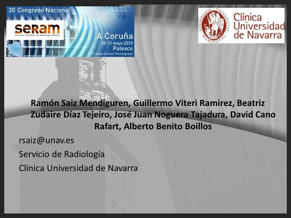 Ramón Saiz Mendiguren, Guillermo Viteri Ramirez, Beatriz Zudaire Díaz Tejeiro, José Juan Noguera Tajadura, David Cano Rafart, Alberto Benito Boillos
