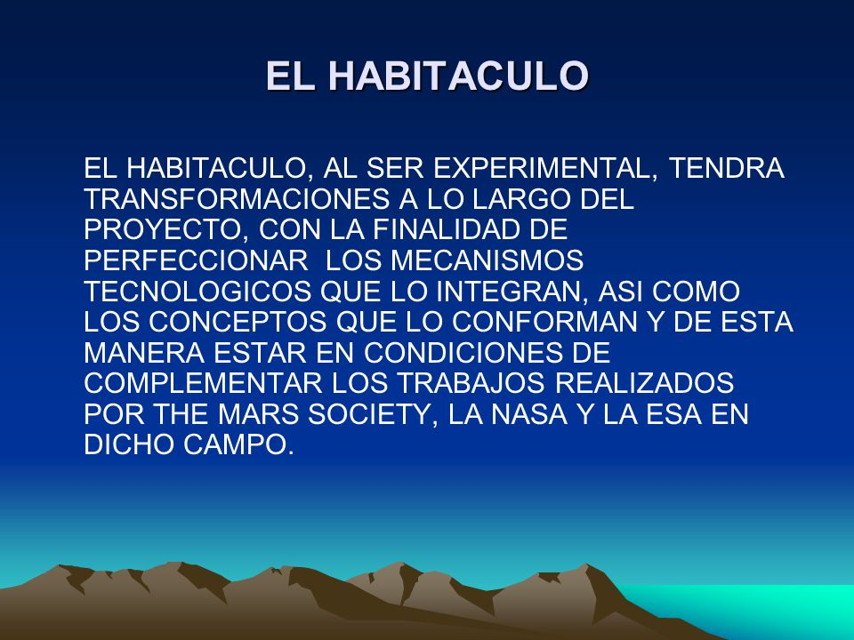EL HABITACULO