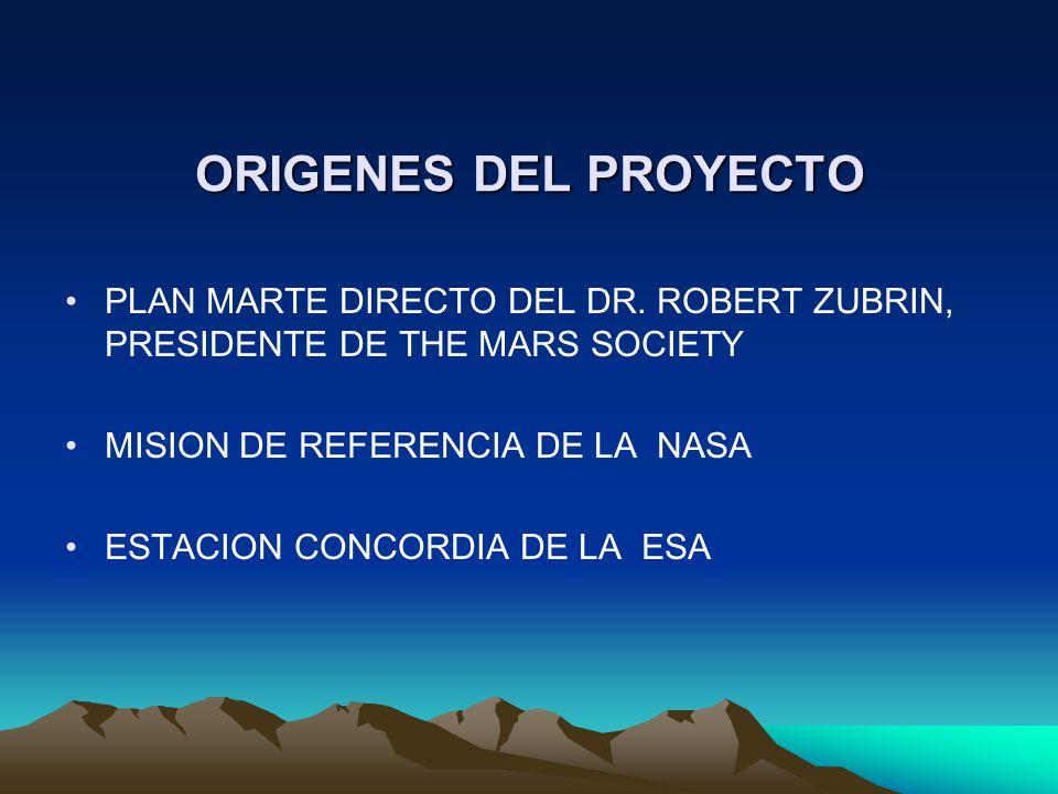 ORIGENES DEL PROYECTO PLAN MARTE DIRECTO DEL DR. ROBERT ZUBRIN, PRESIDENTE DE THE MARS SOCIETY. MISION DE REFERENCIA DE LA NASA.