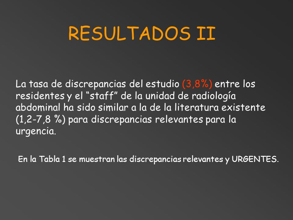 RESULTADOS II