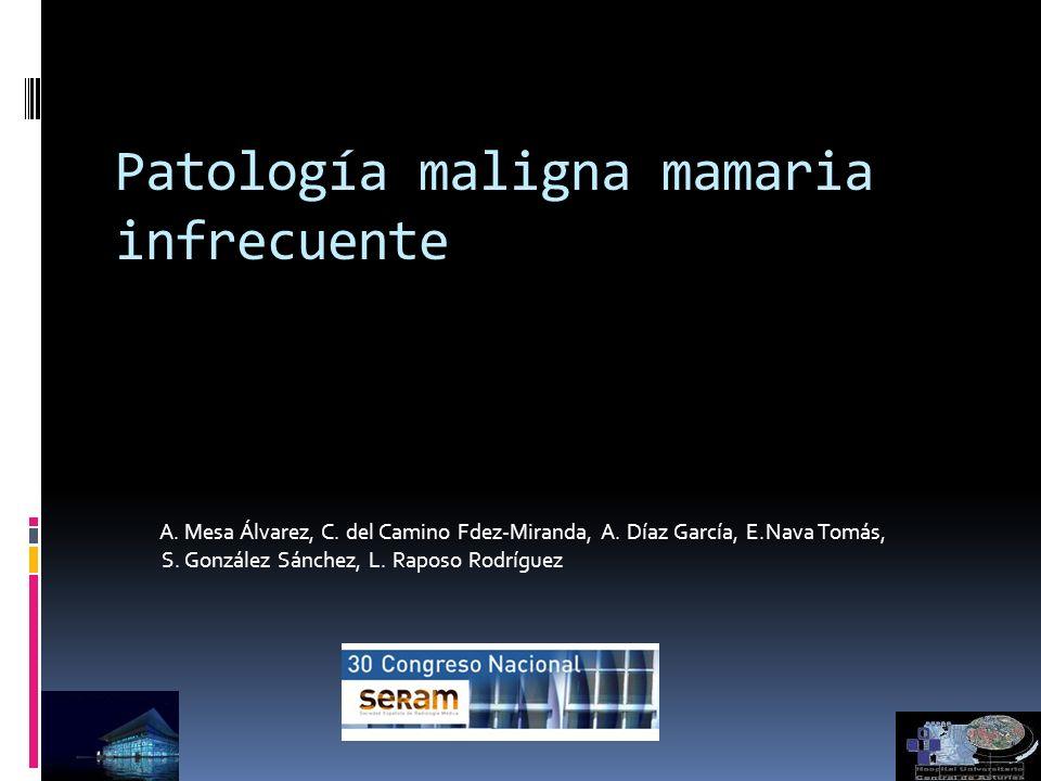 Patología maligna mamaria infrecuente