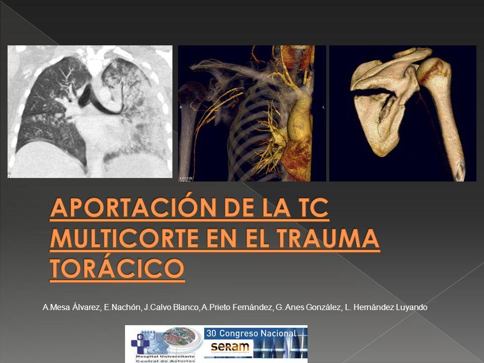 APORTACIÓN DE LA TC MULTICORTE EN EL TRAUMA TORÁCICO