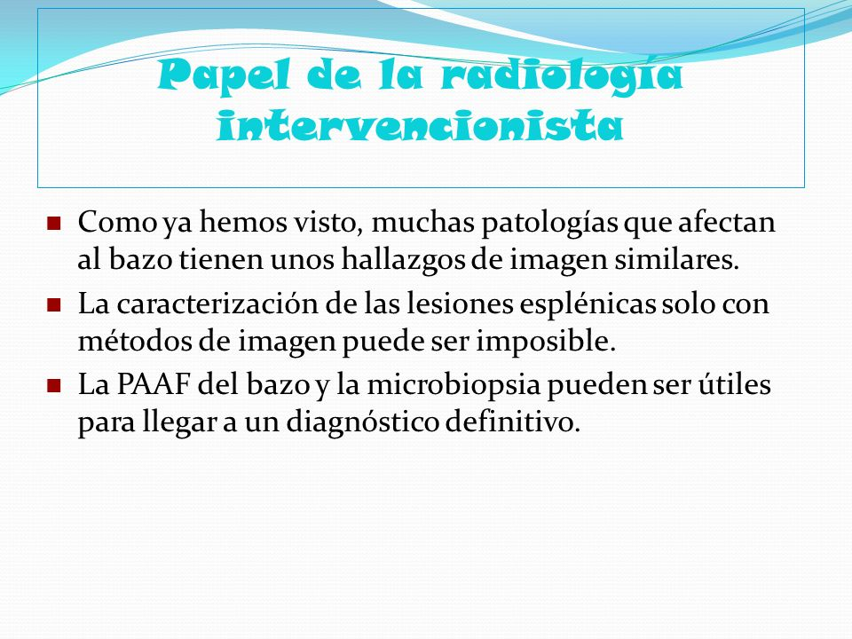 Papel de la radiología intervencionista