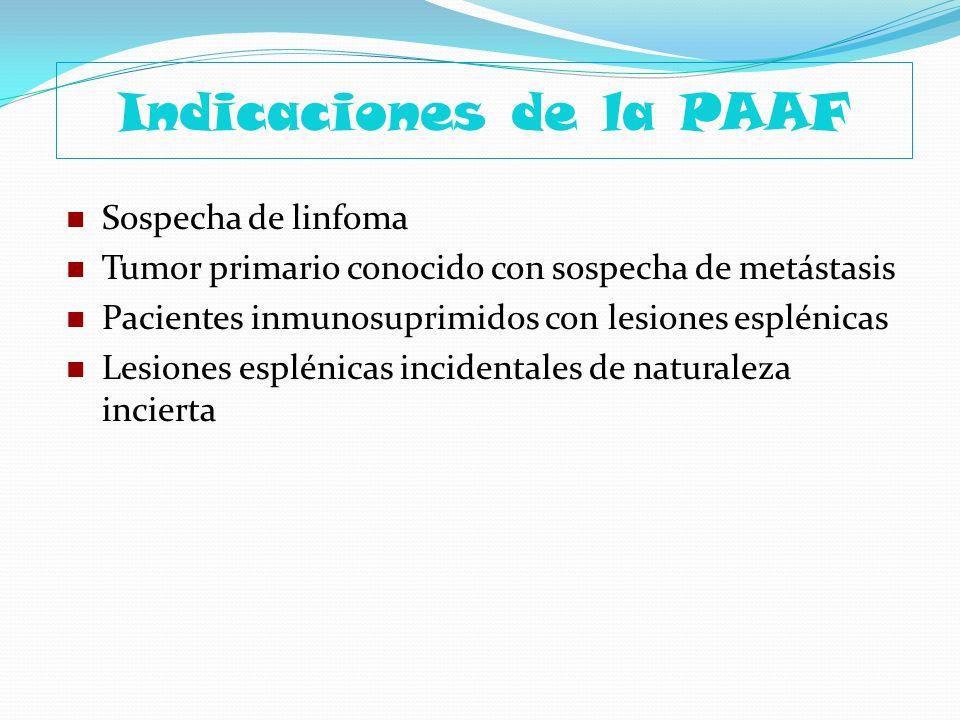 Indicaciones de la PAAF