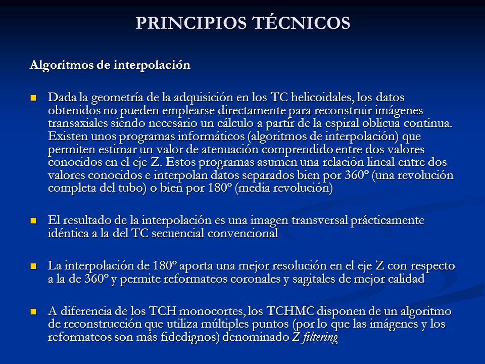 PRINCIPIOS TÉCNICOS Algoritmos de interpolación