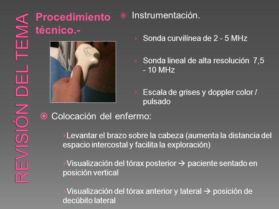 Revisión del tema Procedimiento técnico.- Instrumentación.