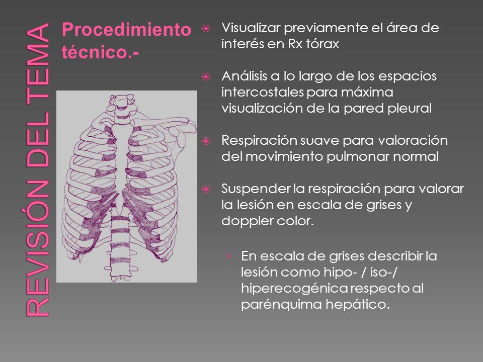 Revisión del tema Procedimiento técnico.-