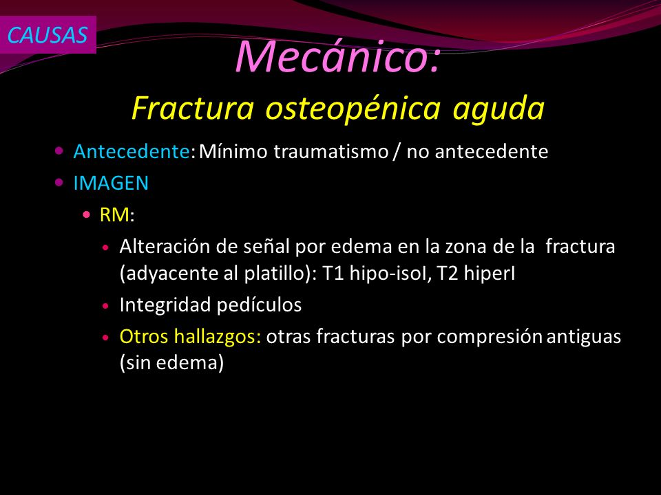 Fractura osteopénica aguda