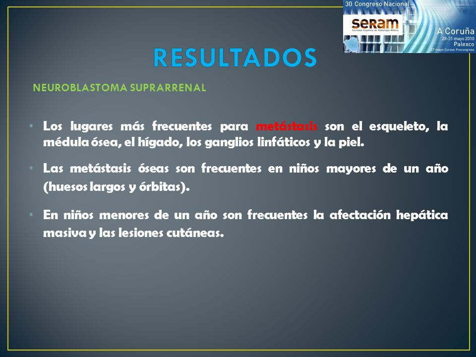 RESULTADOS NEUROBLASTOMA SUPRARRENAL.