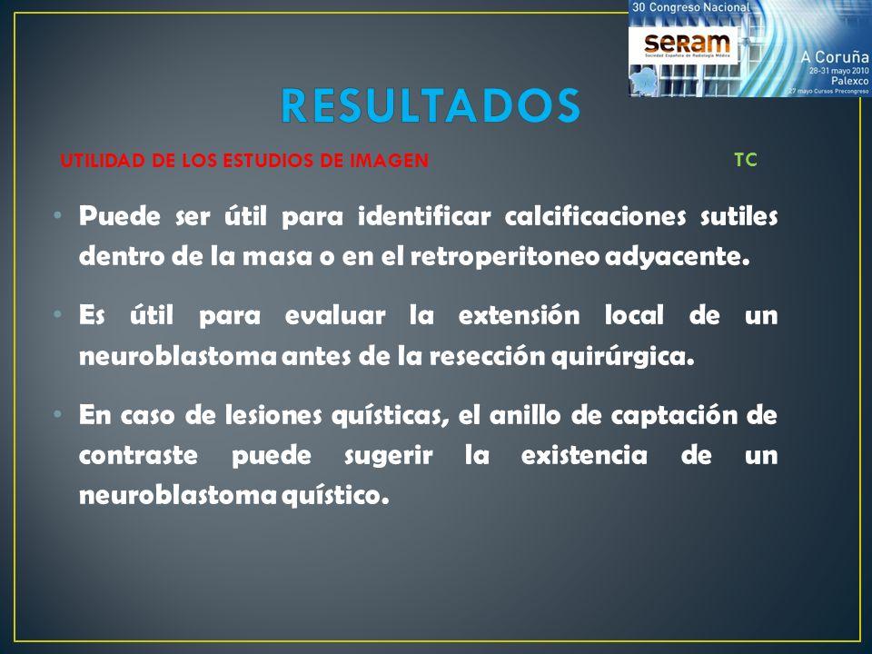 RESULTADOS UTILIDAD DE LOS ESTUDIOS DE IMAGEN. TC.