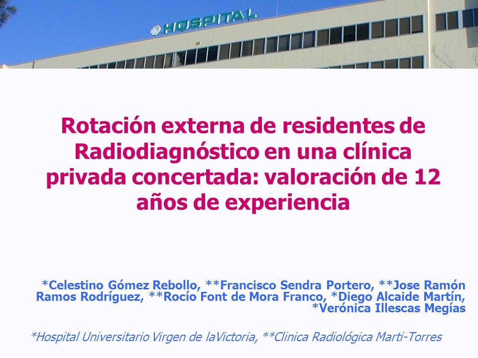 Rotación externa de residentes de Radiodiagnóstico en una clínica privada concertada: valoración de 12 años de experiencia