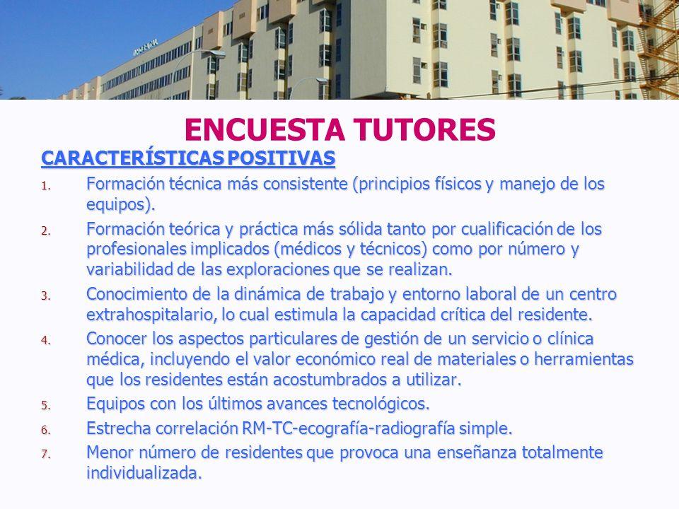 ENCUESTA TUTORES CARACTERÍSTICAS POSITIVAS