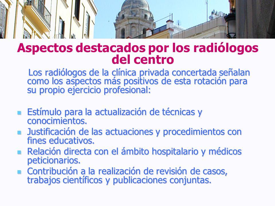 Aspectos destacados por los radiólogos del centro