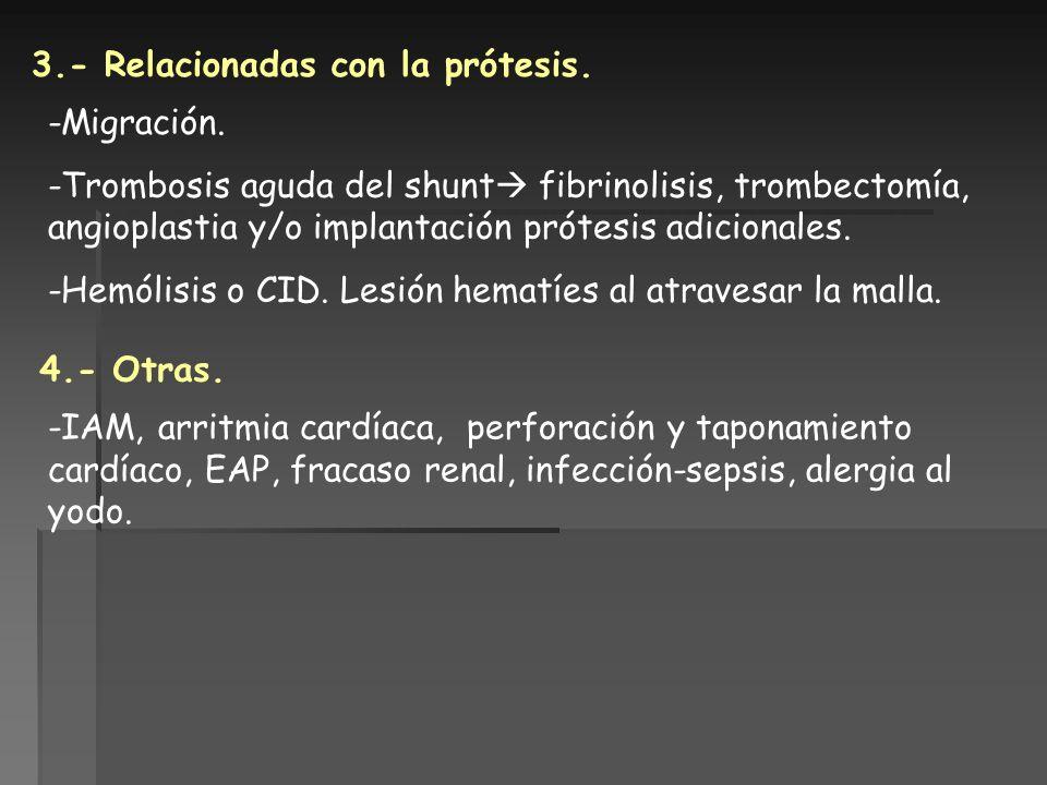 3.- Relacionadas con la prótesis.