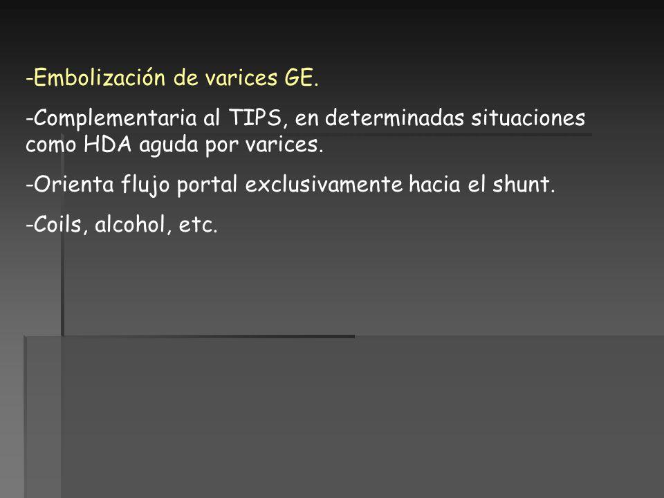 -Embolización de varices GE.