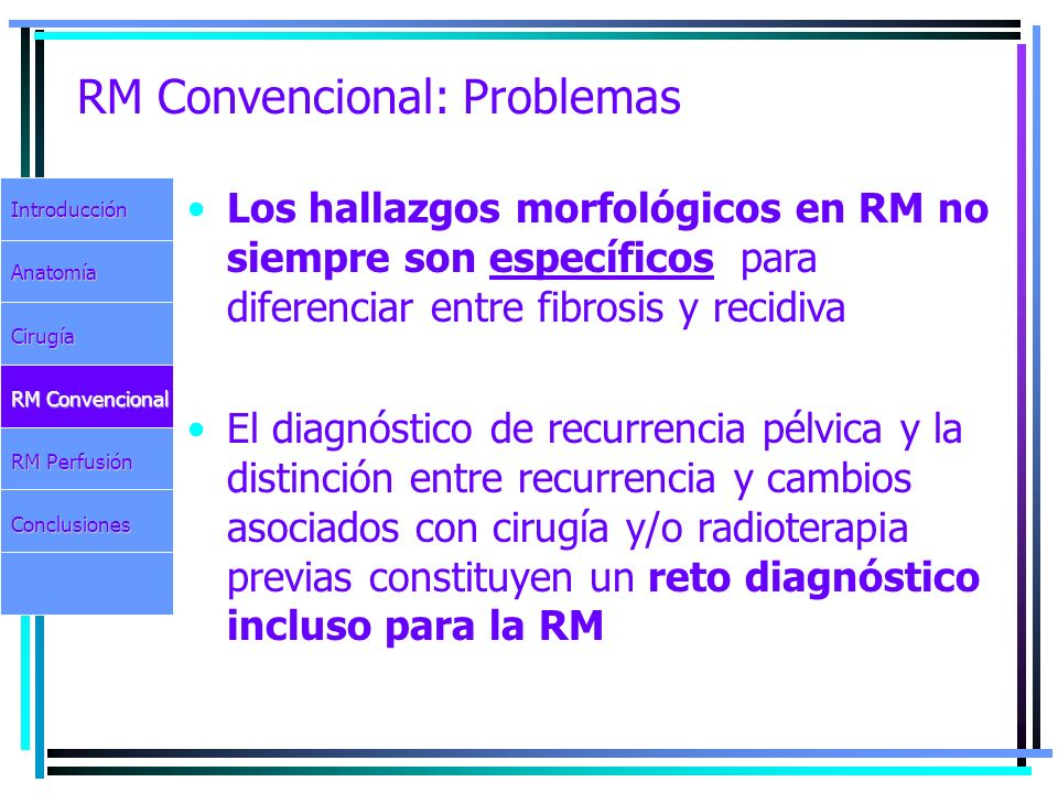 RM Convencional: Problemas