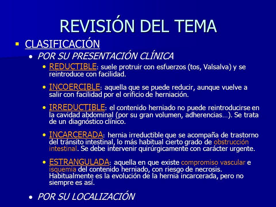 REVISIÓN DEL TEMA CLASIFICACIÓN POR SU PRESENTACIÓN CLÍNICA