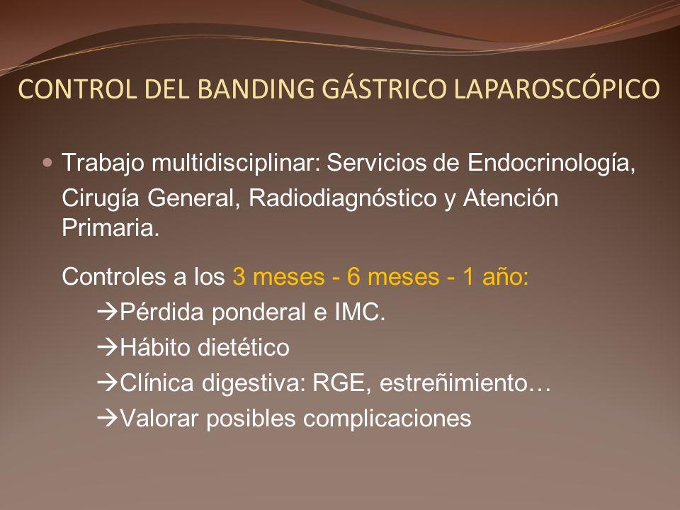 CONTROL DEL BANDING GÁSTRICO LAPAROSCÓPICO