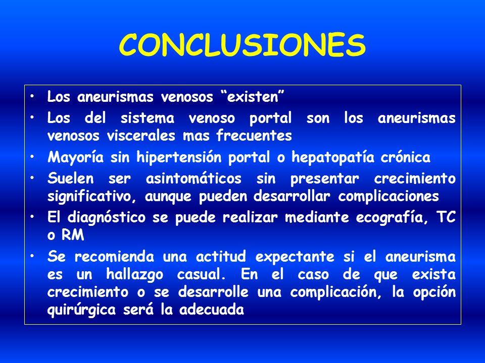 CONCLUSIONES Los aneurismas venosos existen