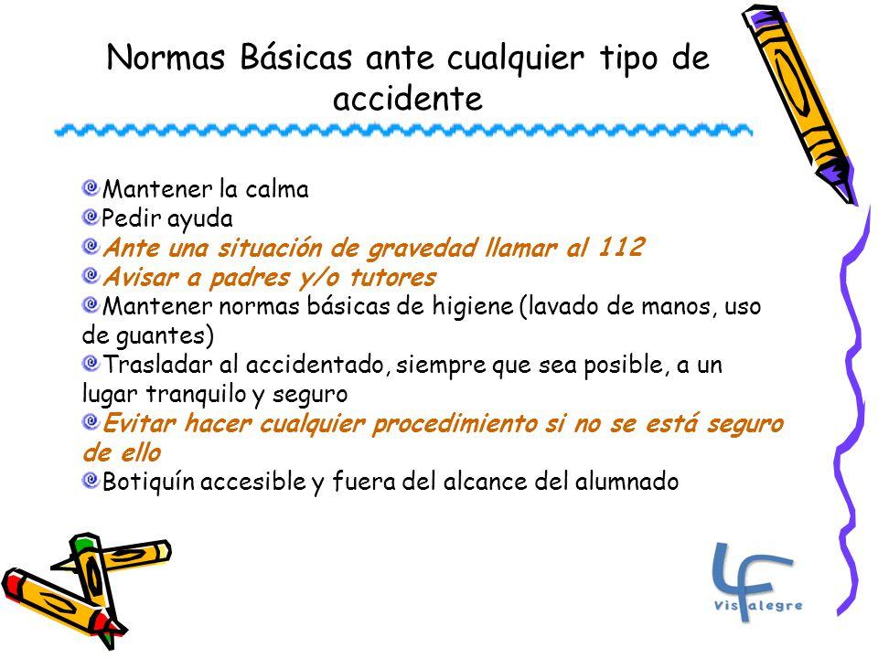 Normas Básicas ante cualquier tipo de accidente
