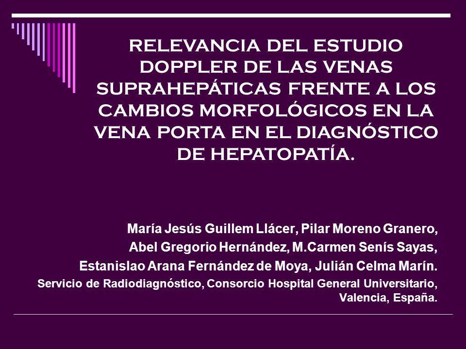 RELEVANCIA DEL ESTUDIO DOPPLER DE LAS VENAS SUPRAHEPÁTICAS FRENTE A LOS CAMBIOS MORFOLÓGICOS EN LA VENA PORTA EN EL DIAGNÓSTICO DE HEPATOPATÍA.
