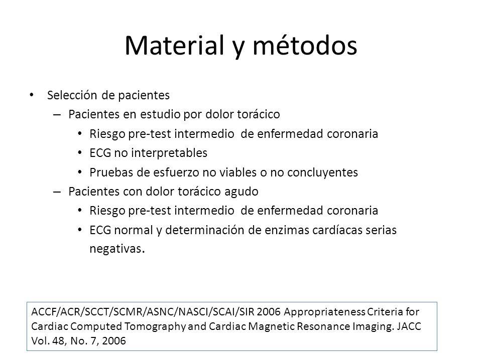 Material y métodos Selección de pacientes