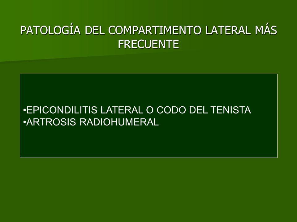 PATOLOGÍA DEL COMPARTIMENTO LATERAL MÁS FRECUENTE